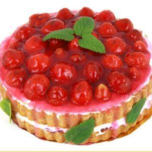 Tårtbild på tårta med tårtbud