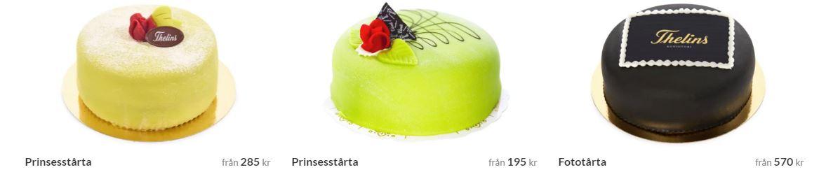 Tårtogram i Stockholm Välj tårta