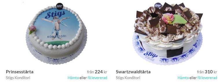 skicka tårta inom skellefteå