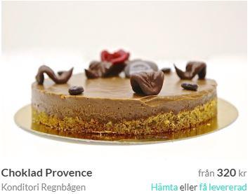 skicka chokladtårta halmstad