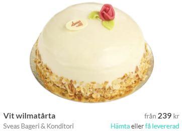 wilmatårta med tårtbud