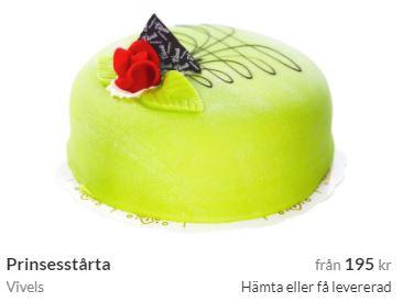 Prinsesstårta med bud