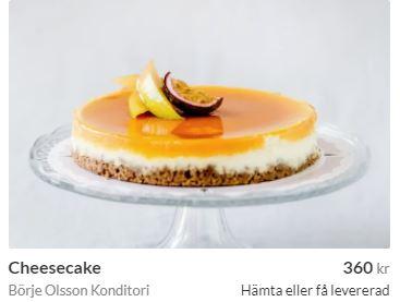 cheesecake från konditori