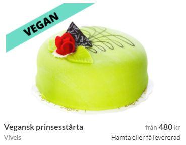 vegansk prinsesstårta med hemleverans