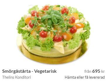 vegetarsik smörgåstårta i huddinge