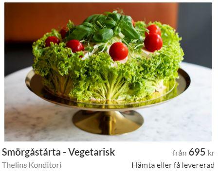 vegetarisk smörgårstårta