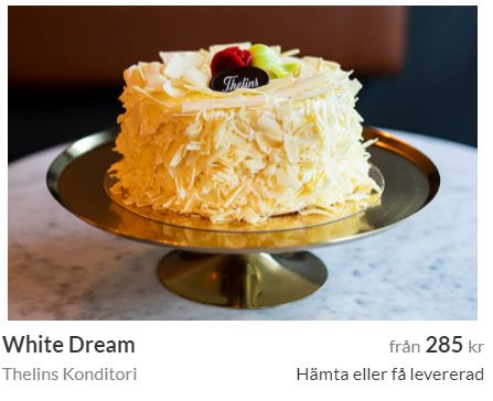 white dream tårta